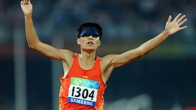 China's Zhang Zhen wins Men's 1500m - T11 gold