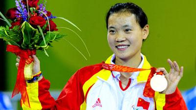 China's Zhang Chuncui wins Women's Ind Epee Cat. A gold