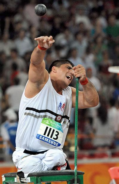 Photos: Azerbaijan's Olokhan Musayev wins Men's Shot Put F55/56