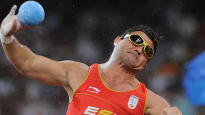 David Casinos of Spain claimed the title with a result of 14.50 meters to claim the gold medal in the Men's Shot Put F11/12