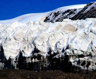Scientists research in glacier area in SW China