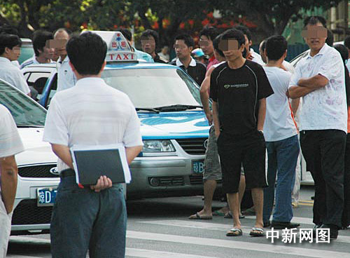 Taxis in Sanya stops work.