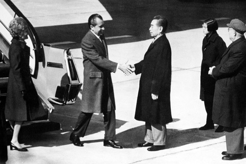 Image result for nixon to china images