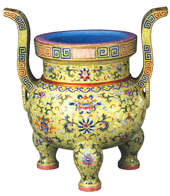 A Qing Dynasty three-foot censer with lotus patterns [Shanghai Daily]
