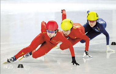 China Dominates Short Track Worlds Org Cn