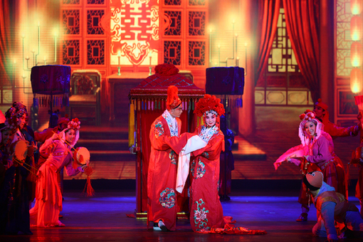 The Wedding Feast – one of the visual highlights of the opera.