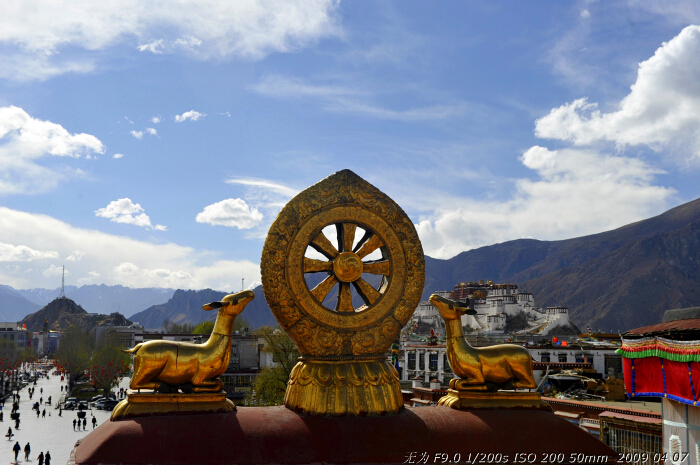 Jokhang Temple in Lhasa, southwest China's Tibet Autonomous Region. This photo was taken on early April this year. [Guo Xiaotian/China.org.cn]