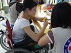 Red Cross helps quake victims walk again