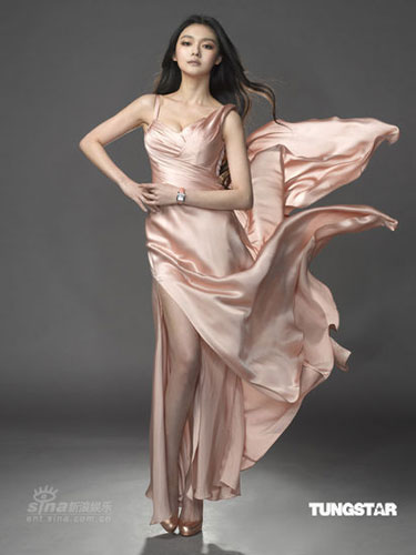 Barbie Hsu poses for the 2009 ad campaign of Tissot watches, which she has endorsed since 2005, on these recent photos.