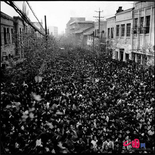 Peasants go down town, Deyang county, Sichuan, 1984