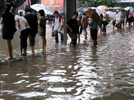 Downpour drenches east China's Nanjing City