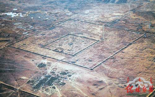 Aerial view of Yuan Shangdu