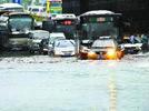 Rainstorm floods Beijing