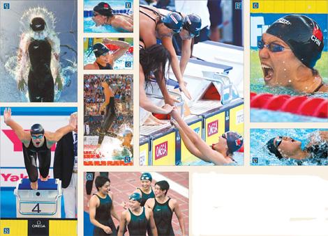 China's medal parade at FINA World Championships