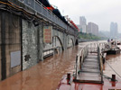 Continual heavy rainfalls cause flood over Chongqing