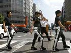 A walk in robot suits in Tokyo