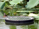 Solar energy water cleaning devices equipped in Parks of Beijing