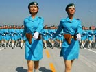 PLA soldiers training for October 1st parade