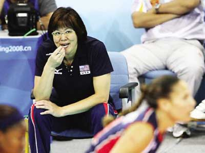 As head coach, Lang Ping led American national volleyball team to the silver medal at the 2008 Beijing Olympic Games.