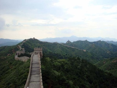 The Wall seemed to dance across the mountains of China, inviting us to keep going on our journey.