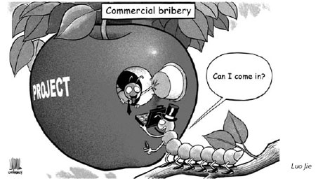 Commerical bribery take many projects