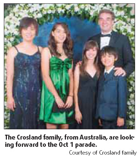 Expats leap at parade opportunity