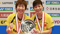 China's Ma and Wang win women's doubles