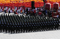 Troopers from Chinese Strategic Missile Force pass in review