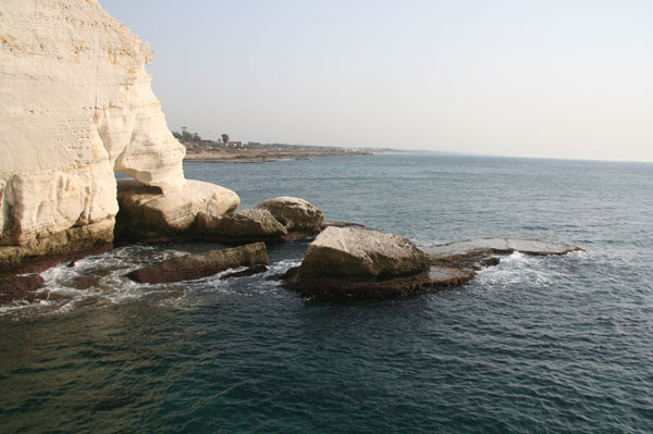 The Mediterranean Sea viewed from the Rosh Hanikra grottos in Israel