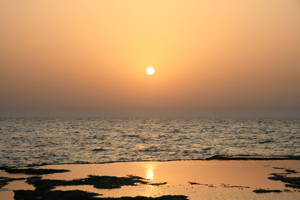 Sunset on Israel's Mediterranean coast