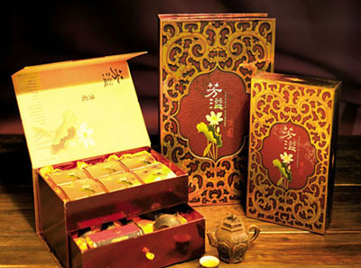 Luxuriant mooncake boxes