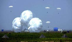 Paratroopers leap into action