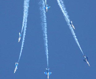 Aerial show marks anniversary of air force