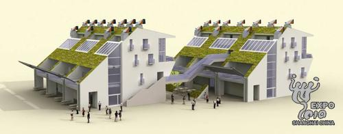 An artist's rendition of London's Urban Best Practices showcase [expo2010.cn]