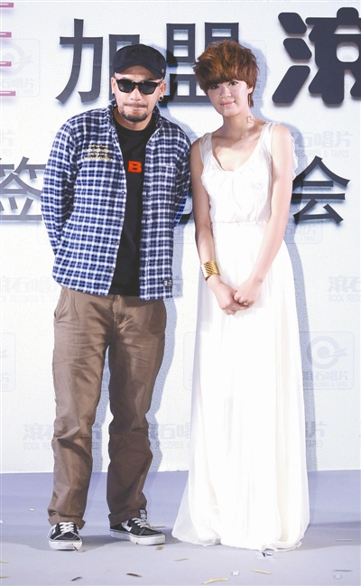 Chang Chen-yue and Yu Kewei (R)