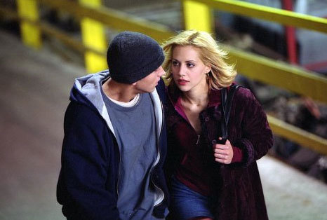 "Actress Brittany Murphy and rapper Eminem in the film ""8 Mile"" [CRI]"