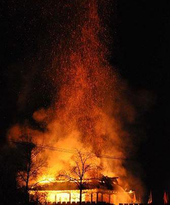 河北正定南城门失火事故5人被问责(组图)