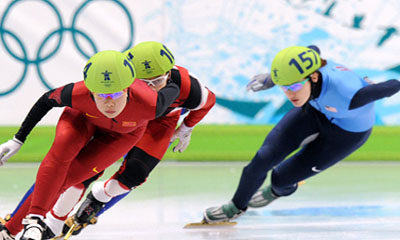 China wins women's short track 3,000m relay