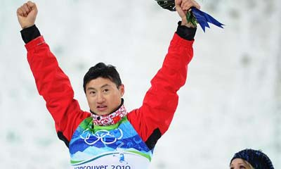 Liu Zhongqing wins men's aerials Olympic bronze