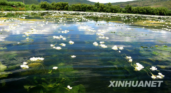 Photo taken in March, 2009 shows Dianchi, the largest freshwater lake in Yunnan Province.