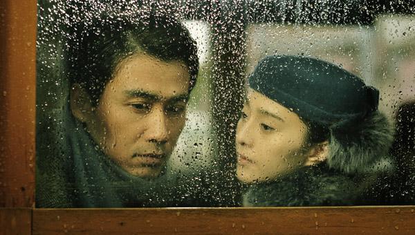 Still from Liu Yunlong's WWII espionage film East Wind, Rain