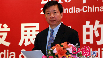 CIPG head gives a speech at the India-China Development Forum