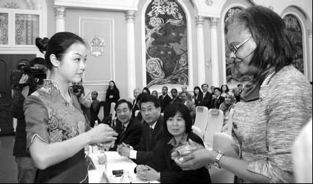More than 200 embassy officials from over 90 countries gathered at the opening of the 2010 Friendship Communication of Ambassadors and Madams on Knowing Chinese Culture, on Monday, to get a taste of Chinese tea culture.