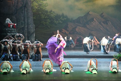 Da Bei Chuan dancers performing on stage