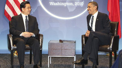 Hu, Obama meet on bilateral ties