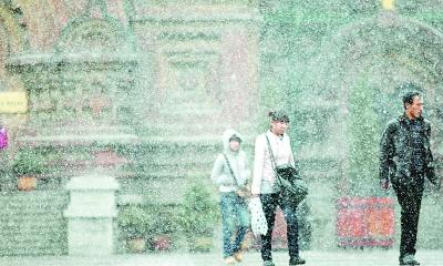 An overnight snowstorm hits Heilongjiang.[Heilongjiang Daily]