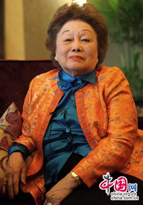 Ms. Anna Chan Chennault [Wang Lei/China.org.cn] 陈香梅女士