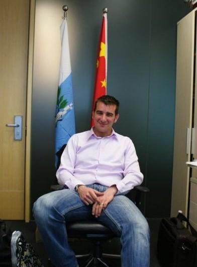 Davide Righi, San Marino's pavilion supervisor