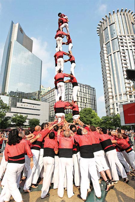 how to say human tower in spanish