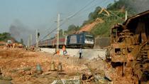 Rails at train derailment site reinforced